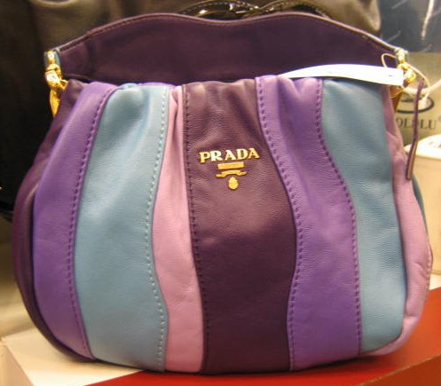 Designer Handbag Bible ? Prada Nappa Stripes Multicolor Small Hobo