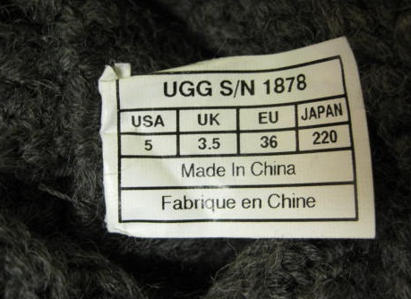 ugg made in china